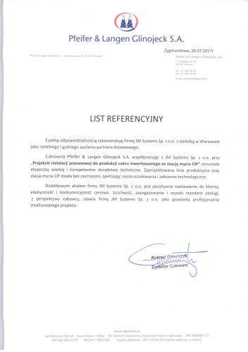Referencje Cukrownia Glinojeck1